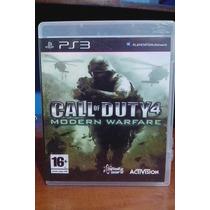 Jogo Play 3 - Call Of Duty 4 Modern Warfare - Mídia Física