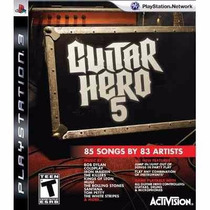 Manual De Instruções Do Guitar Hero 5 Ps3 Original