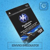Playstation Network Card Cartão Psn $50 - Preço Imbatível !
