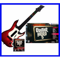 Guitar Hero 5 Ps3 E Guitarra Novo Playstation 3 Rock Band