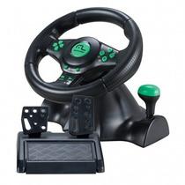 Controle Volante Xbox360 Ps2ps3 Pc Preto/verde S/ Juros