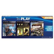 Jogos Tri-play Aventura 3 Jogos Em Um Kit Playstation 3