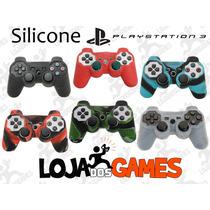 Capa Silicone Lavável P/ Controle Play 3 / Ps3 Várias Cores!