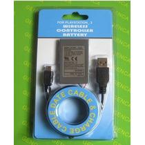 Kit Bateria P/ Controle Ps3 1800mah + Cabo Usb - Cod.08