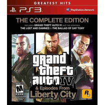 Grand Theft Auto Gta 4 Iv Complete Edition Ps3 - 3 Jogos