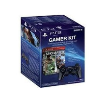 Novo Combo Gamer Kit Uncharted Dual Pack + Controle Para Ps3