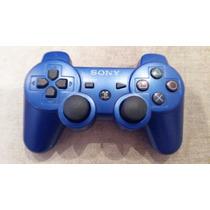 Controle Ps3 Wireless Dual Shock 3 Sixaxis Original Azul