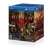 Controle Ps3 Com Jogo Diablo 3 + 3 Capas Para Controle Ps3