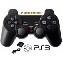 Controle Ps3 Lacrado S/ Fio Ps1 Ps2, Ps3 Pc Dualshock 4 Em 1