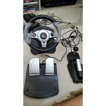 Volante, Pedal E Câmbio Twin Turbo Leandership, P/ Pc E Ps2