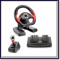 Volante Simulador Dual Shock Ps2 E Ps3 Pro 50