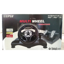 Volante E Pedais Big Ben Multi Wheel Para Ps2 / Ps3 / Pc