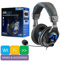 Fone Headset Turtle Beach Ear Force Px22 Ps4 Ps3 Xbox 360 Pc