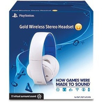 Headset Gold Branco Sony - 7.1 Stereo - Wireless
