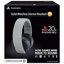 Headset Gold 7.1 Wireless 20th Anniversary Sony Ps3 Ps4 Vita