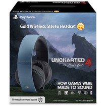 Headset Gold 7.1 Wireless Uncharted 4 Edition Sony Ps3 Ps4