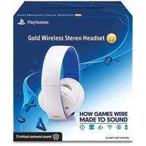 Headset Gold Branco 7.1 Wireless Stereo Ps3 Ps4 Ps Vita Pc
