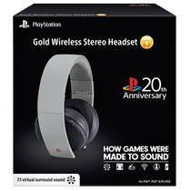 Headset Gold 7.1 Wireless Sony Ps3 Ps4 Vita 20th Anniversary