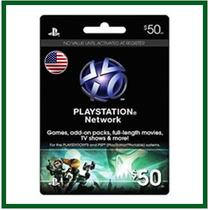 Playstation Network Card - $50 - Psn Usa - 12x Sem Juros