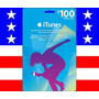 Itunes Gift Card 100 - Cartão $100 Iphone Ipad Ipod - Usa