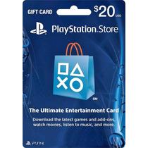 Playstation Network Card 20 Cartão Psn $20 Envio Imediato!