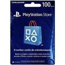 Cartão Psn R$100,00 Brasileira - Loja Física Em Bh!