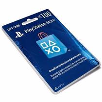 Cartão Psn Brasil R$100 Reais - Melhor Preço - Brasileira!