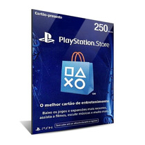 Cartão Playstation Store Brasil 250 Reais Psn Brasileira