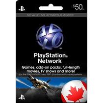 Cartão 50 Dólares Para Psn Do Canadá - Código Psn Canadense