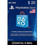 Cartão Psn $20 - Psn Card $20 - Playstation Network Card $20