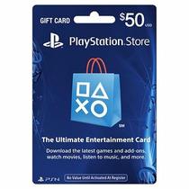 Playstation Network Gift Card Cartão Psn $50 Original+frete*