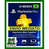 Cartão Psn Plus Brasil 12 Meses - Cartão Psn Plus Brasileira