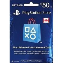 Psn Card Canadá 50$ Psn Canadense Crédito 50$