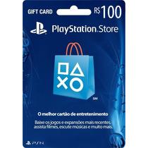 Psn Card 100 Reais - Cartão Psn Br - P/ Ps3, Ps4 & Ps Vita