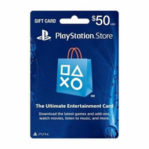 Psn Card - Playstation Network Card - Cartão Psn 50