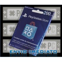 Cartão Psn Brasil R$ 200 Reais Playstation Brasileira Ps4 /3