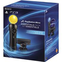 Kit Essentials Playstation Ps Move Ps3 + 10 Jogos Demos