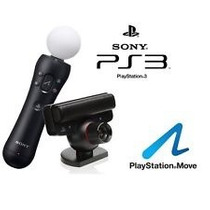 Kit Playstation Move Ps3 - Camera Bastão E Jogo