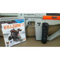 Metralhadora Sharp Shooter Ps3 Com Move Nsvigator+jogo Killz