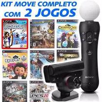 Kit Move Completo Com 2 Jogos Originais - Ps3 E-sedex 6,07