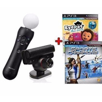 Playstation Move Ps3 - Pronta Entrega - Kit Completo 2 Jogos