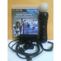 Kit Ps Move - 1 Controle + Camera + Jogo Sports Ps3