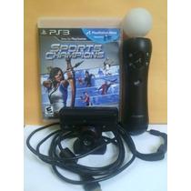 Kit Ps Move - 1 Controle + Camera + Jogo Sports