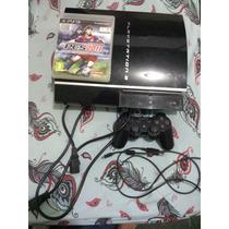 Playstation 3 Fat 80gb - 1 Controle S/ Fio E 1 Jogo Original