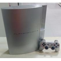 Playstation 3 Fat Prata 80gb - Raríssimo - Satin Silver