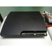 Ps3 Slim 120gb + Jogos No Hd + Controle Já Desb. Aproveite!