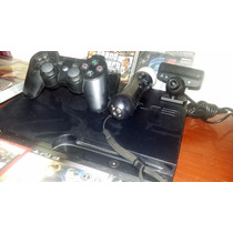 Playstation 3 Completo Com Kit Move + 2 Controles + 15 Jogos