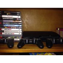 Playstation 3 Controles (novos) Slim 160gb + 10 Jogos