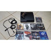 Video Game Playstation 3 Slim Ps3 + 17 Jogos Originais