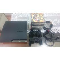 Playstation 3 Slim 640gb, 2 Controles, *43 Jogos + Conta Psn